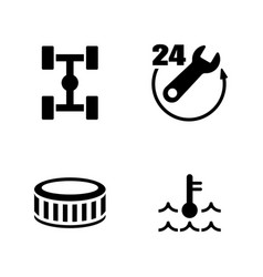 Car service simple related icons vector