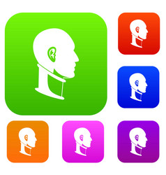 cervical collar set color collection vector image