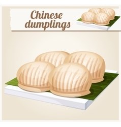 Chinese dumplings Detailed Icon vector image vector image