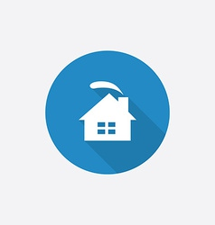 cozy home Flat Blue Simple Icon with long shadow vector image vector image