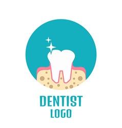 Dentist logo tooth logo vector