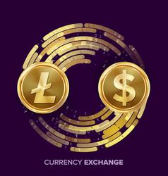 Digital currency money exchange litecoin vector