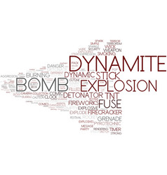 Dynamite word cloud concept vector