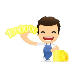 funny cartoon mechanic vector image vector image