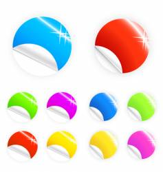 glossy and shiny retail buttons vector image