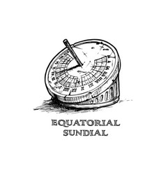 hand drawn of sundial vector image vector image