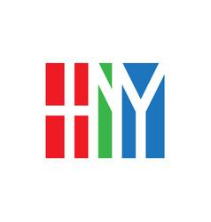 hny initial logo monogram logotype design element vector image