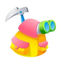 icon climbing bag vector image vector image