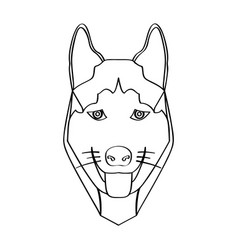 Isolated alaskan malamute avatar vector
