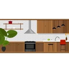 kitchen interior furniture house interior vector image