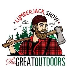 Lumberjack Template Logo vector image