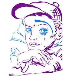 Sad clown vector image vector image