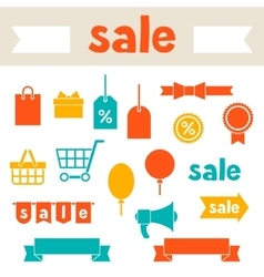 Sale and shopping icons various design elements vector image vector image