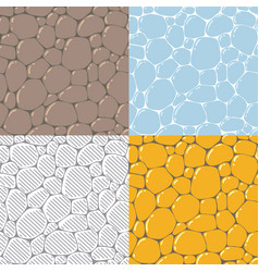 Seamless cobblestone or paving stone background vector