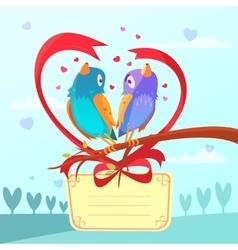 Valentine day retro cartoon vector