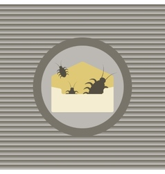 Virus infected email vector image