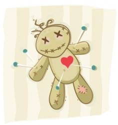 voodoo doll vector image vector image