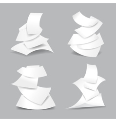 Falling paper sheets vector image