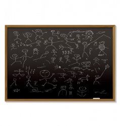 stick man blackboard vector image
