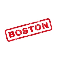 Boston text rubber stamp vector