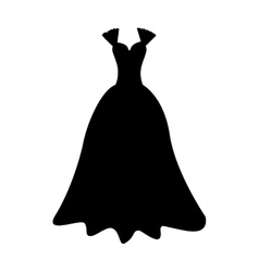 Elegant gown icon image vector