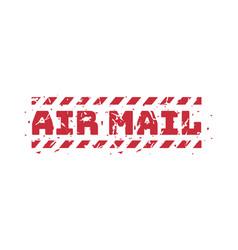 vintage postage air mail stamp vector image