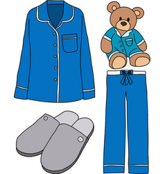 Sleeping clothes vector