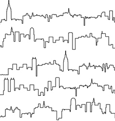 Contours of buildings vector