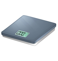 A bathroom electronic scale vector