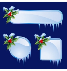 set from christmas frames vector image