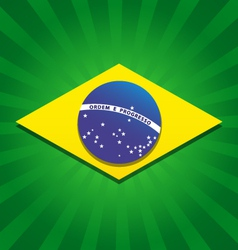 Brazil bursting flag logo vector