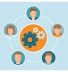 teamwork concept in flat style vector image