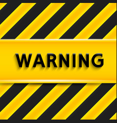 Warning sign vector image