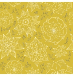 Seamless floral wallpaper with hand-drawn flowers vector