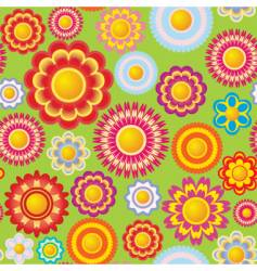 Flower seamless pattern vector
