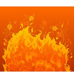 Fiery flowers vector