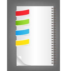 color bookmarks vector image
