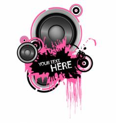 Grunge speaker design vector