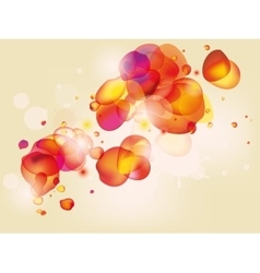 Colorful abstract background with red yellow vector