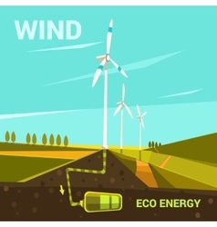 Ecological energy cartoon vector image