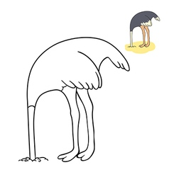 Funny ostrich vector