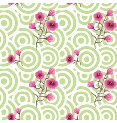 Japanese wave oriental seamless pattern vector