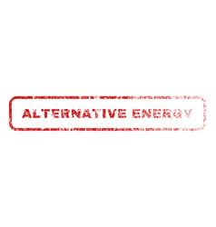 Alternative energy rubber stamp vector