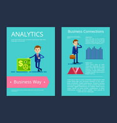 analytics business way on vector image
