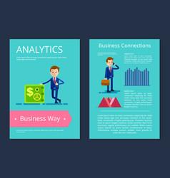 analytics business way on vector image vector image