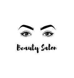 Beauty Salon Badge The Women s Eyes Eyelashes vector image vector image