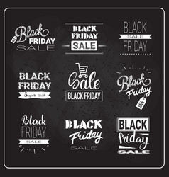 black friday flyers set holiday sale label vector image
