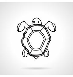 Black line icon for turtle vector
