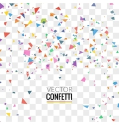 Colorful Confetti on Transparent square Background vector image vector image