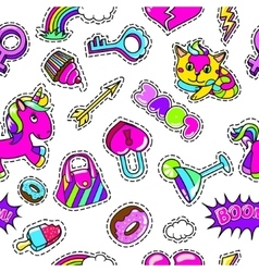 Colorful fashion seamless pattern vector